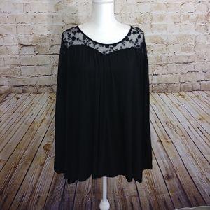 💜{Lane Bryant} long sleeve flowy top lace